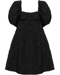 Simone Rocha Vestido corto de cloqué - Negro
