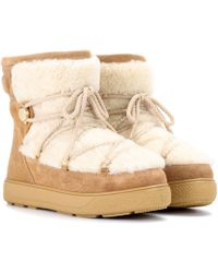 Moncler - New Fanny Suede Ankle Boots - Lyst