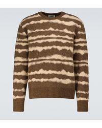 Nanushka Jersey Virote de mezcla de lana a rayas - Marrón