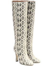 Paris Texas Leather Knee-high Boots - Natural