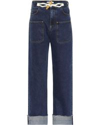 JW Anderson Exklusiv bei Mytheresa – High-Rise Jeans Toggle - Blau