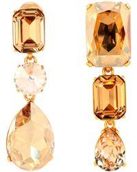 Oscar de la Renta - Crystal-embellished Clip-on Earrings - Lyst