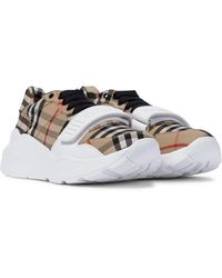 Burberry Sneakers Vintage Check - Natur
