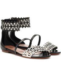 Alaïa Studded Leather Sandals - Black