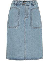 A.P.C. Nevada Denim Midi Skirt - Blue