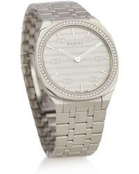 Gucci Uhr 25H 34 mm - Mettallic