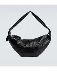 Lemaire Croissant Large Leather Bag - Black