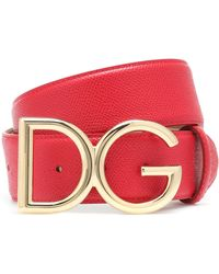 Dolce & Gabbana Cinturón DG - Rojo