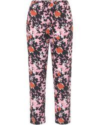 Marni Cropped-Hose mit abstraktem Print - Pink