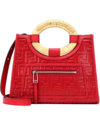 Fendi Runaway Top Handle Bag in Red - Lyst 2ded332421a45