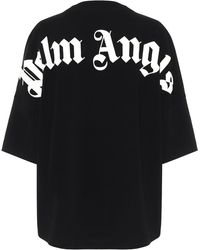 Palm Angels T-shirt oversize in cotone con logo - Nero