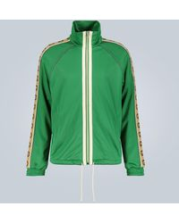 Gucci - Side-stripe Stretch-jersey Jacket - Lyst