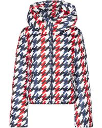Perfect Moment Polar Flare Houndstooth Down Ski Jacket - Red
