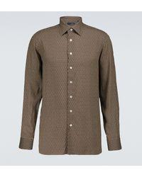 Lardini Camisa Elangelo de manga larga - Marrón