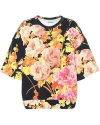 Dries Van Noten Floral Cotton Short-sleeved Sweatshirt - Multicolor