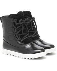Sorel Joan Of Arctic Next Lite Leather Snow Boots - Black