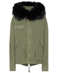Mr & Mrs Italy | Cotton Parka With Fur Finish | Lyst