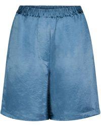 Acne Studios Satin Shorts - Blue