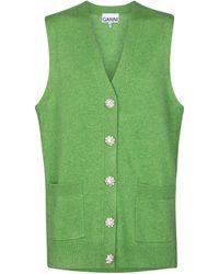 Ganni Cashmere Vest - Green