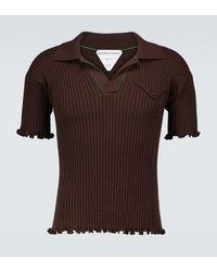 Bottega Veneta Polo de lana de manga corta - Multicolor