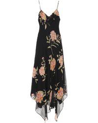 Polo Ralph Lauren - Bedrucktes Maxikleid aus Seiden-Georgette - Lyst