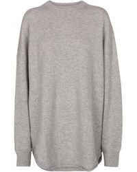 Extreme Cashmere N° 53 Crew Hop Cashmere-blend Jumper - Grey