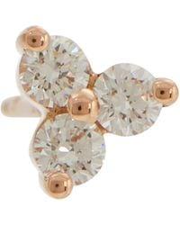 Maria Tash Boucle d'oreille Trinity Large en or rose 14 ct et diamants