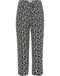 Marni Printed Cropped Trousers - Black