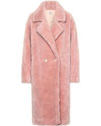 Yves Salomon Wool Coat - Pink