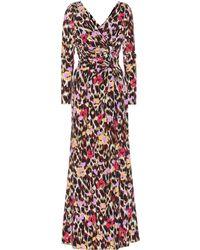 Roberto Cavalli Printed Stretch Jersey Dress - Multicolour