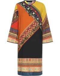Etro Wool And Silk Tunic Dress - Multicolor