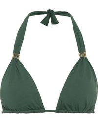 Melissa Odabash Grenada Halter Bikini Top - Green