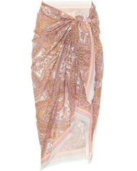 Zimmermann Esclusiva Mytheresa - Pareo a stampa in cotone - Rosa