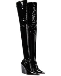 AMINA MUADDI Overknee-Stiefel Danielle aus Latex - Schwarz