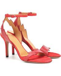 Isabel Marant Sandalen aus Leder - Rot