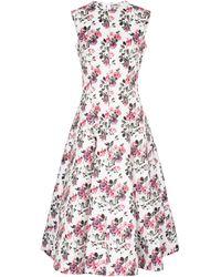 Emilia Wickstead Vestido midi Mara de crepé floral - Blanco