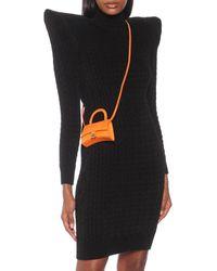 Balenciaga Hourglass Mini Leather Tote - Orange