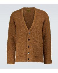 Lardini Teddy Alpaca And Wool-blend Cardigan - Brown
