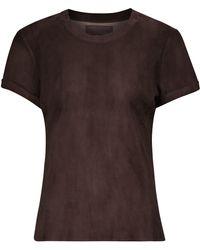 Stouls S.05 T-Shirt aus Leder - Braun