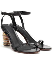 Vetements Money Leather Sandals - Black