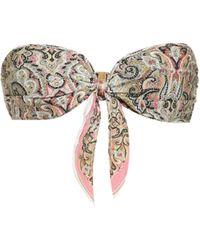 Zimmermann Haut de bikini Freja bandeau imprimé - Multicolore