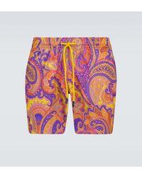 Etro Paisley Printed Swim Shorts - Multicolor