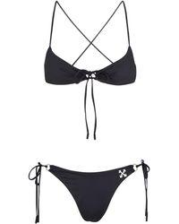Off-White c/o Virgil Abloh Bikini a triangolo - Nero
