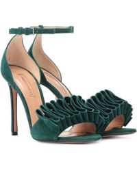 Samuele Failli - Exclusive To Mytheresa – Alexandra 105 Suede Sandals - Lyst