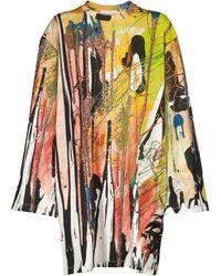 Christopher Kane Top de algodón estampado - Multicolor