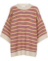 See By Chloé Jersey en mezcla de lana a rayas - Multicolor