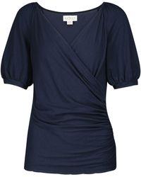 Velvet Camiseta Emaly de algodón elástico - Azul