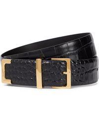 Khaite Cinturón Robbi de piel - Negro