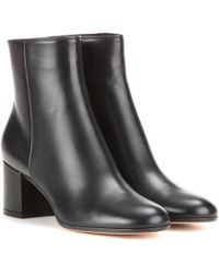 Gianvito Rossi - Margaux Mid Leather Ankle Boots - Lyst