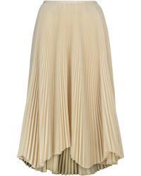 Jil Sander Pleated Midi Skirt - Natural